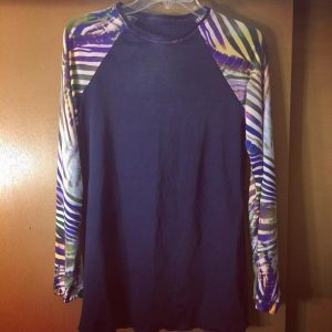 zebra long sleeve tee